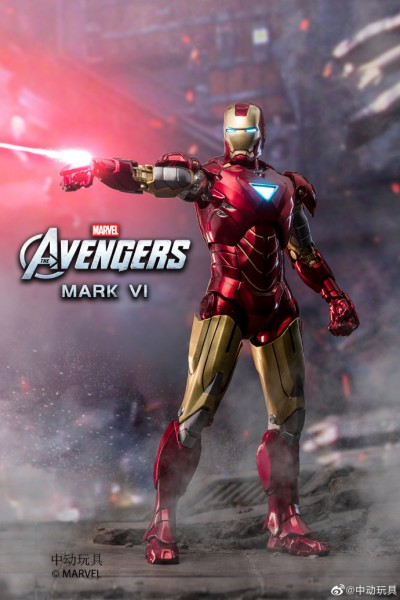 ZD Toys Actionfigur 1/10 Iron Man Mark VI