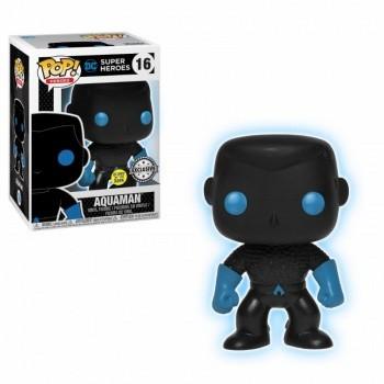 Justice League Funko Pop! Vinylfigur Aquaman (Silhouette) Glow-In-The-Dark 16 Exclusive