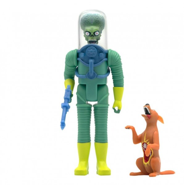 Mars Attacks! ReAction Actionfigur Alien 2 with Gun & Dog