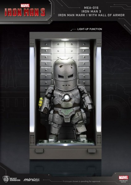 Iron Man 3 'Mini Egg Attack Action' Figur Hall of Armor Iron Man Mark I