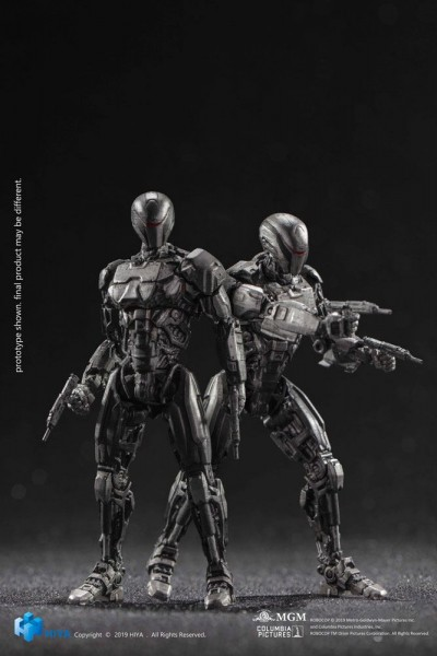Robocop 2014 Actionfiguren 1/18 OmniCorp EM-208 Enforcement Droids (2-Pack)