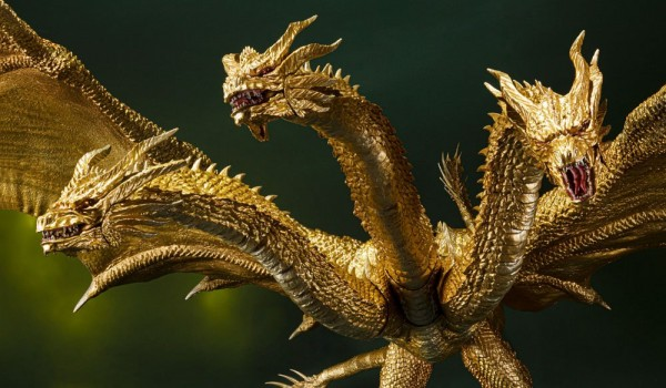 Godzilla: King of the Monsters S.H. MonsterArts Actionfigur King Ghidorah (Special Color Version)