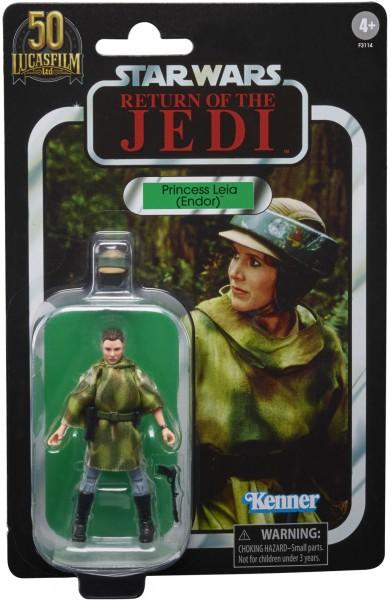 Star Wars Vintage Collection 50th Anniversary Lucas Film Actionfigur 10 cm Princess Leia (Endor) Exc
