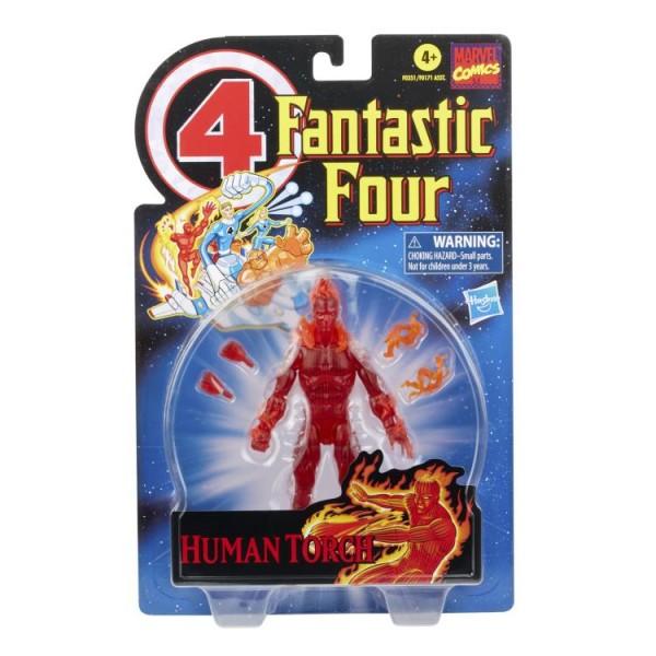 Fantastic Four Marvel Legends Retro Actionfigur Human Torch