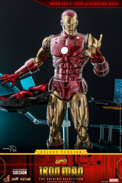 Marvel The Origins Collection Comic Masterpiece Actionfigur 1/6 Iron Man (Deluxe)
