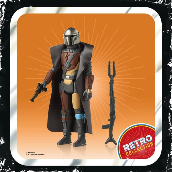 Star Wars Mandalorian Retro Collection Actionfigur 10 cm The Mandalorian