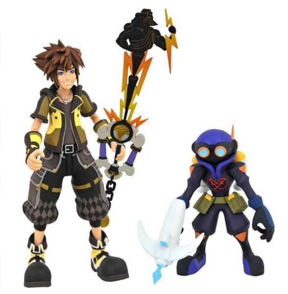 Kingdom Hearts 3 Select Actionfiguren Guardian from Sora & Air Soldier with Hero's Origin Keyblade (