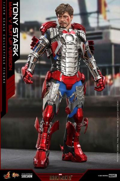 Iron Man 2 Movie Masterpiece Actionfigur 1/6 Tony Stark (Mark V Suit Up Version)
