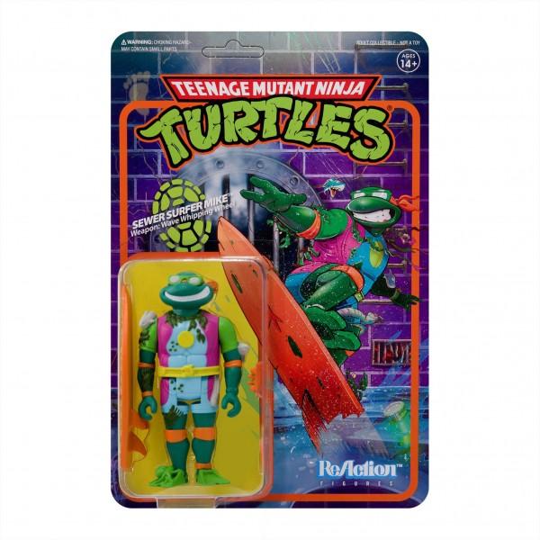 Teenage Mutant Ninja Turtles ReAction Actionfigur Sewer Surfer Michelangelo