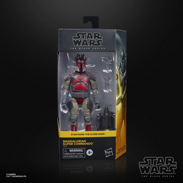 Star Wars Black Series Actionfigur 15 cm Mandalorian Super Commando (Clone Wars S7) Exclusive