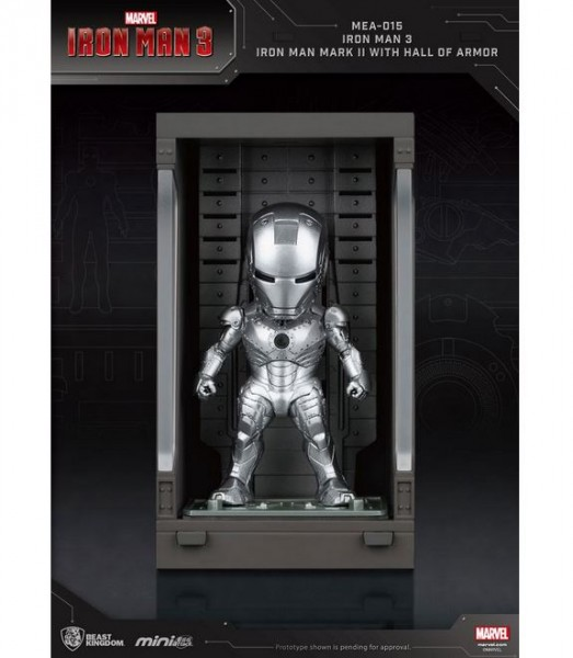Iron Man 3 'Mini Egg Attack Action' Figur Hall of Armor Iron Man Mark II