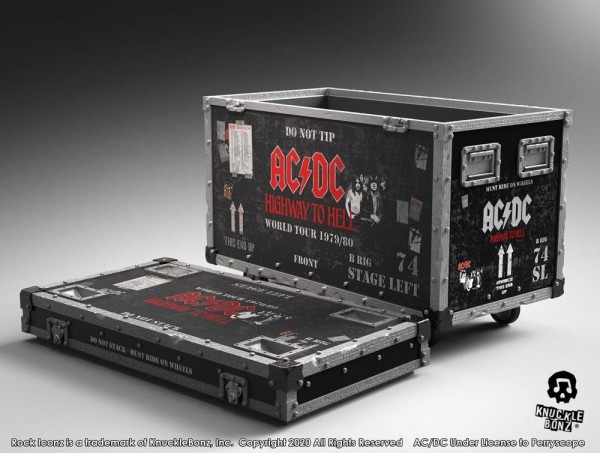 AC/DC Rock Iconz On Tour Highway to Hell Road Case Statue & Bühnenhintergrund Set