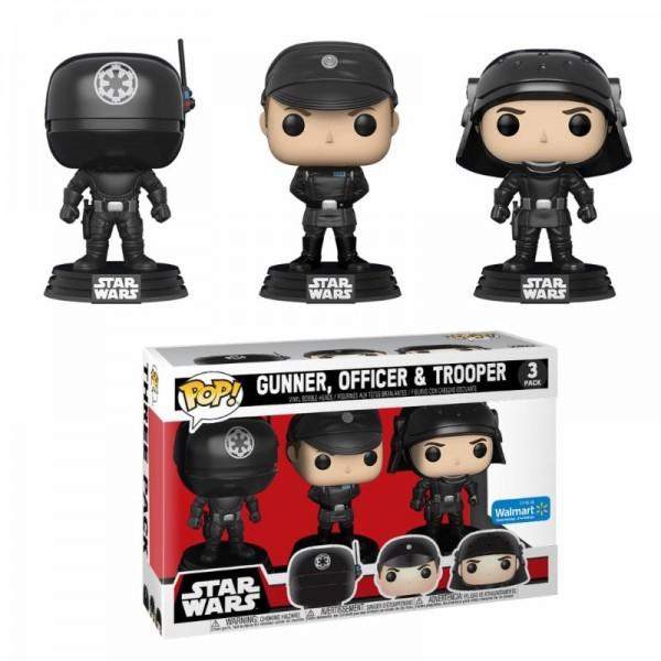 Star Wars Funko Pop! Vinylfiguren Gunner, Officer & Trooper 3-Pack Exclusive
