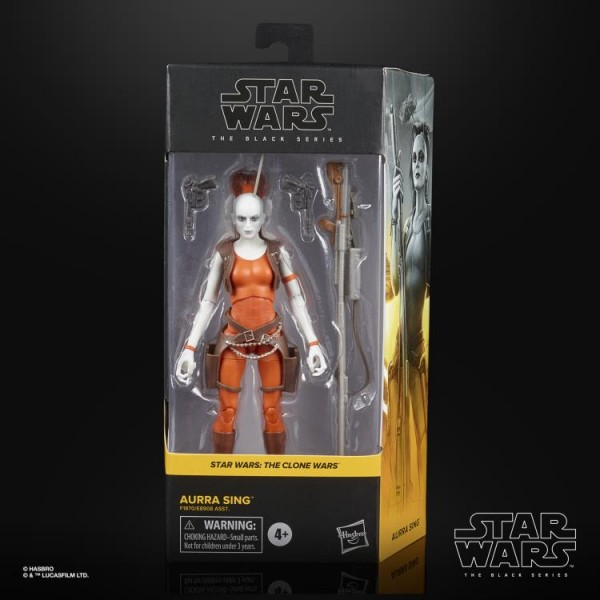 Star Wars Black Series Actionfigur 15 cm Aurra Sing (Clone Wars)