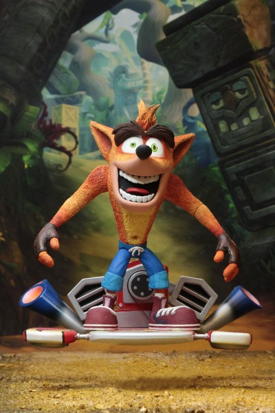 Crash Bandicoot Actionfigur Crash Bandicoot with Hoverboard (Deluxe)