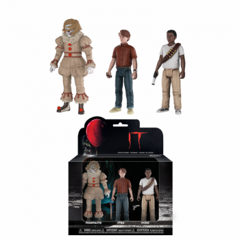 Stephen Kings It 10cm Actionfiguren 3-Pack Pennywise, Stanley Uris & Mike Hanlon