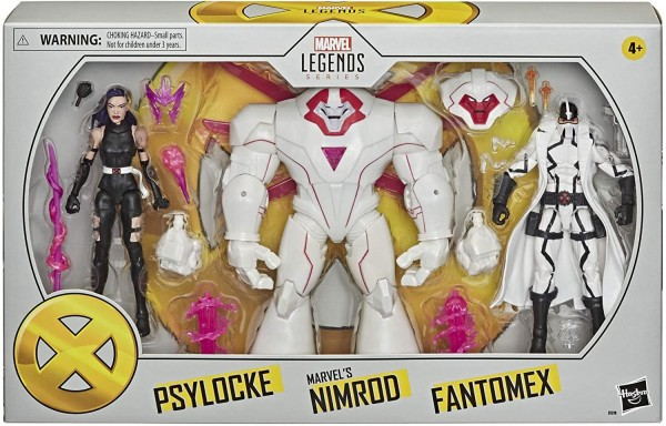 X-Men Marvel Legends Actionfiguren Psylocke & Nimrod & Fantomex (3-Pack) Exclusive