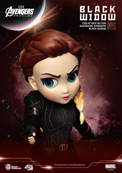 Avengers Endgame 'Egg Attack Action' Figur Black Widow