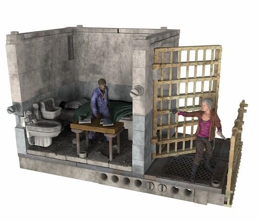 Walking Dead TV Building Set Gefängniszelle (oben)