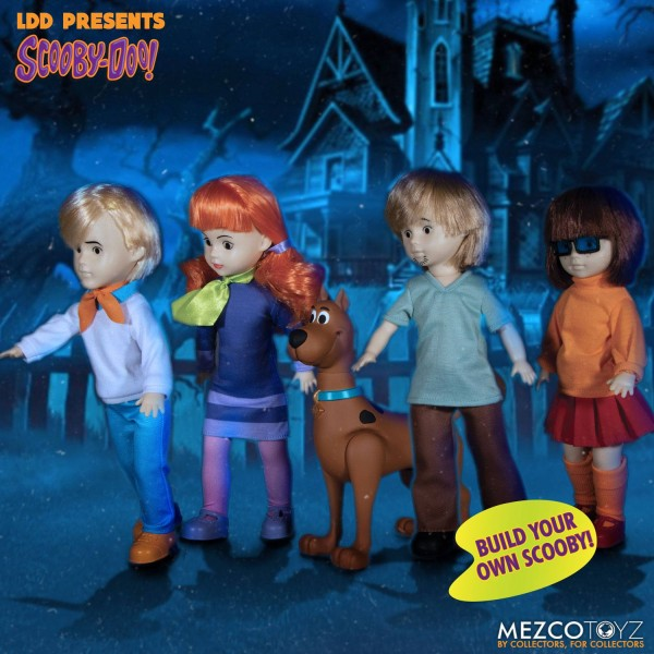 Scooby-Doo Build A Figure Living Dead Dolls Puppen Shaggy & Daphne & Fred & Velma (4er Set)