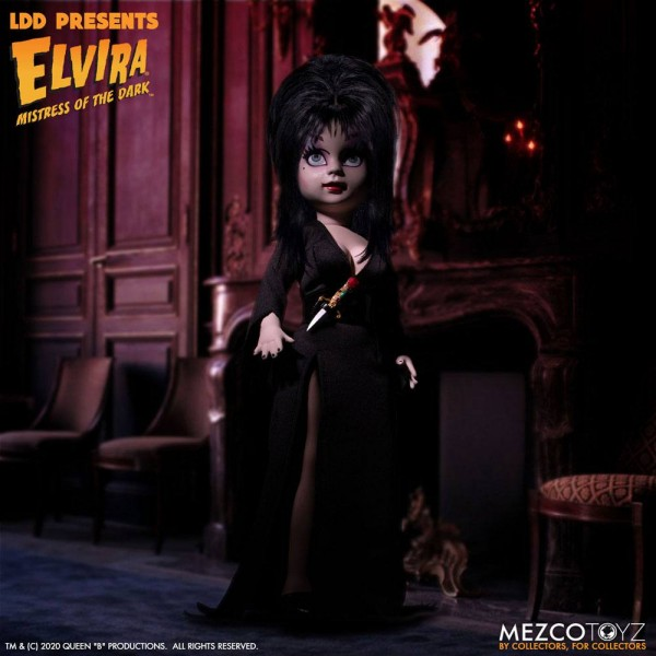 Elvira Mistress of the Dark Living Dead Dolls Puppe Elvira