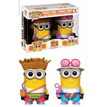 Despicable Me 3 Funko Pop! Vinylfiguren Tourist Dave & Jerry 2-Pack