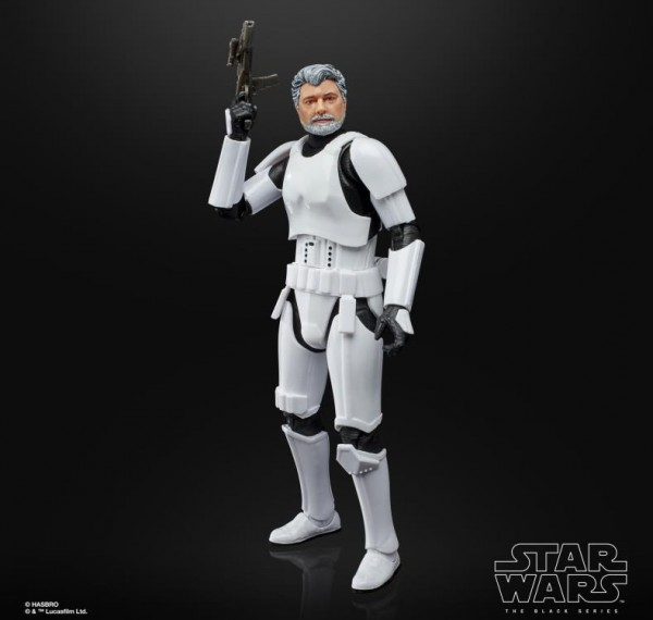 Star Wars Black Series 50th Anniversary Lucas Film Actionfigur 15 cm George Lucas (Stormtrooper Disg