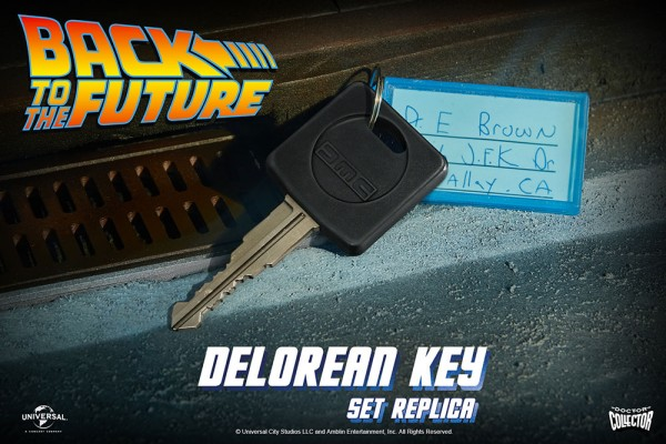 Zurück in die Zukunft Replik 1/1 Delorean Key Set