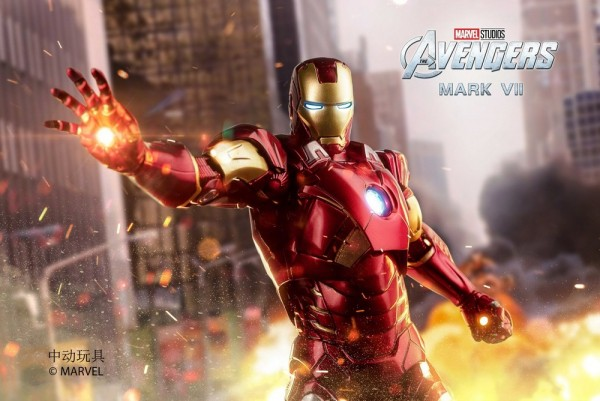ZD Toys Actionfigur 1/10 Iron Man Mark VII