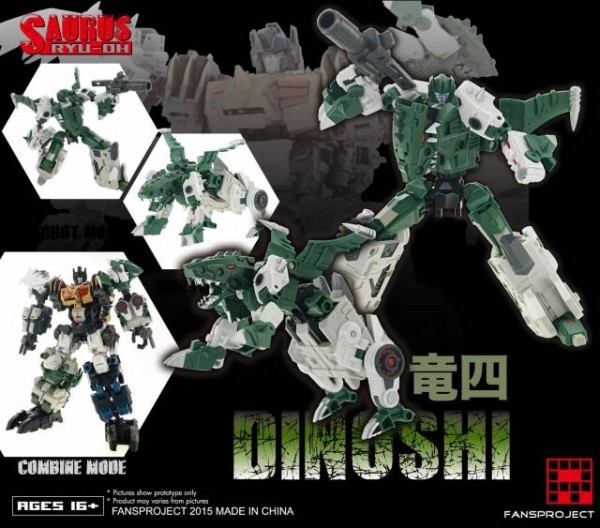 Fansproject Saurus Ryu-Oh Combiner - Dinoshi