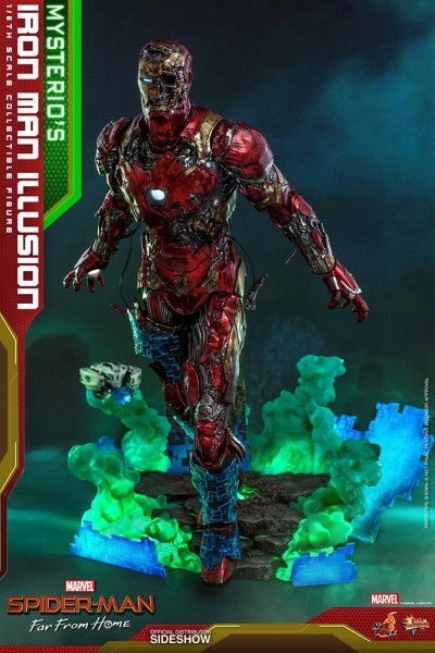 Spider-Man Far From Home Movie Masterpiece Actionfigur 1/6 Mysterio's Iron Man Illusion