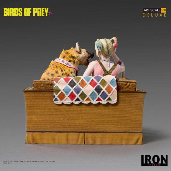 Birds of Prey Art Scale Statue 1/10 Harley Quinn & Bruce (Deluxe)