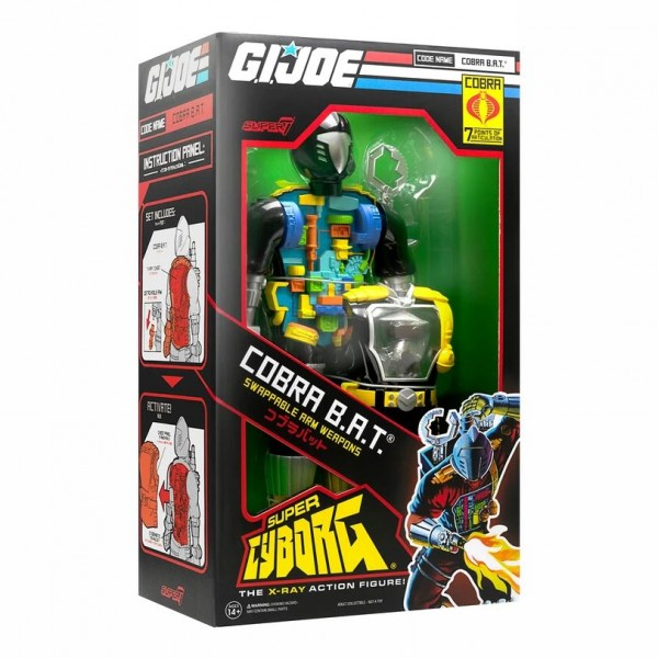 G.I. Joe Super Cyborg Actionfigur Cobra B.A.T. (Original)