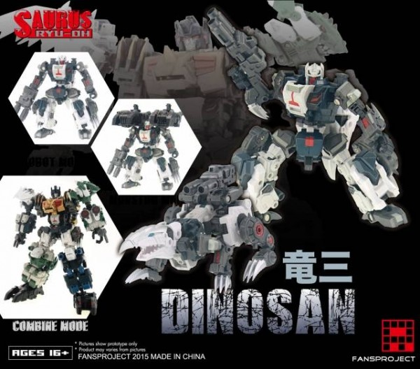 Fansproject Saurus Ryu-Oh Combiner - Dinosan