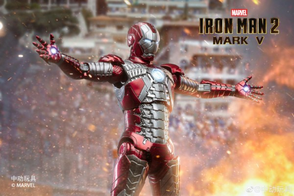 ZD Toys Actionfigur 1/10 Iron Man Mark V