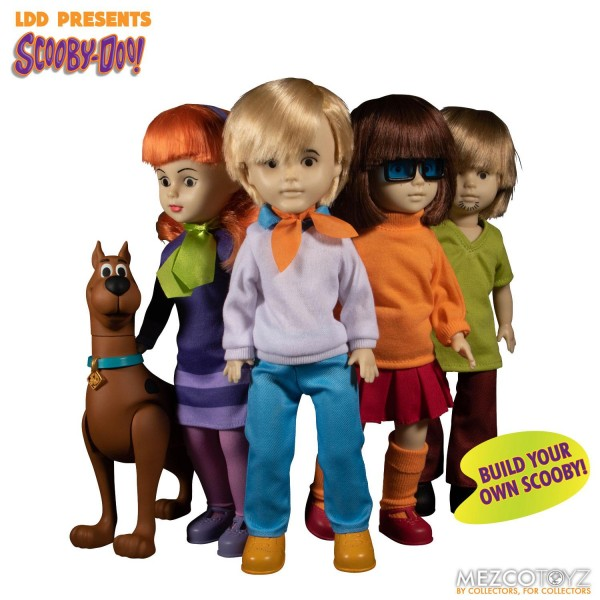 Scooby-Doo Build A Figure Living Dead Dolls Puppen Shaggy & Daphne & Fred & Velma (4er Set)