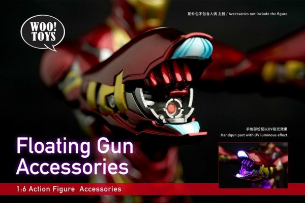 Woo Toys 1/6 Floating Gun Accessories with UV light hand guns set
