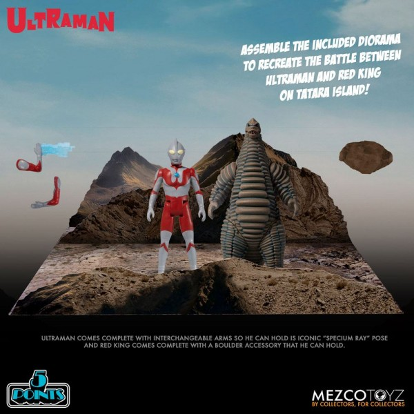 Ultraman '5 Points' Actionfiguren Ultraman & Red King Box-Set