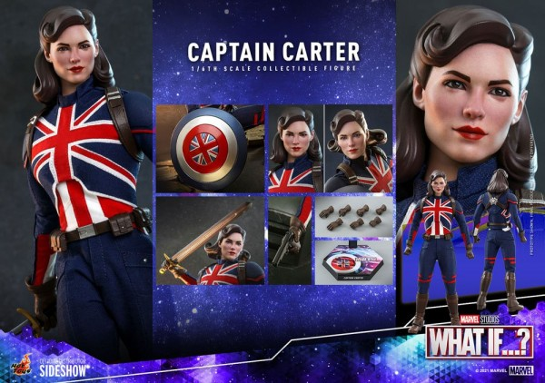 What If...? Animated Series Masterpiece Actionfigur 1/6 Captain Carter