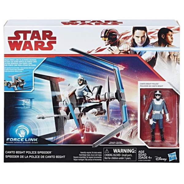 Star Wars The Last Jedi Class B Fahrzeug Canto Bight Police Speeder & Pilot