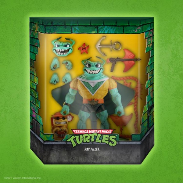 Teenage Mutant Ninja Turtles Ultimates Actionfigur Ray Fillet
