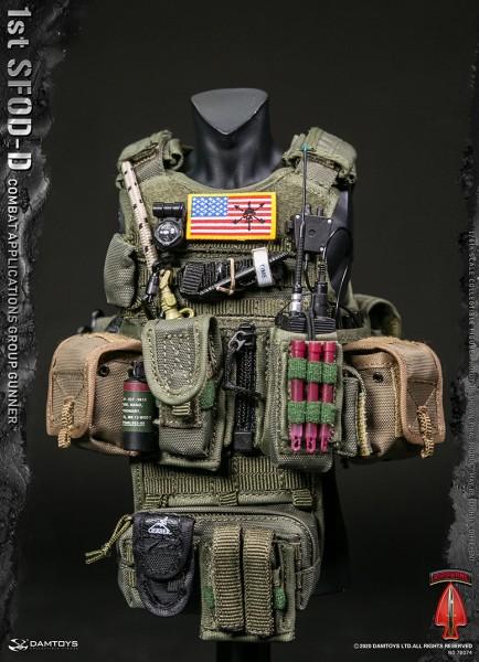 DAMTOYS Actionfigur 1/6 SFOD-D Combat Applications Group Gunner