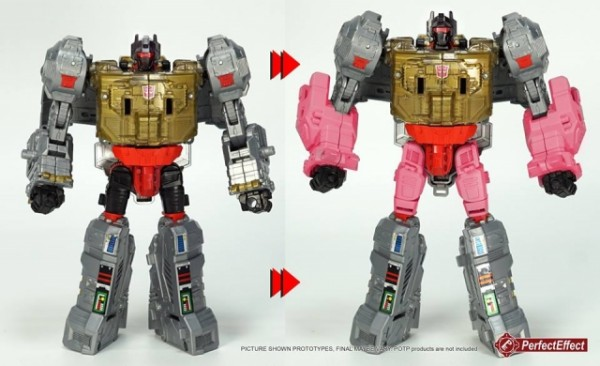Perfect Effect PC-23 Power of the Primes Volcanicus Dinobots Upgrade Set