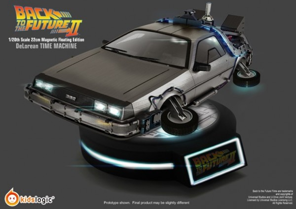Back to the Future Magnetic Floating DeLorean Time Machine 1/20