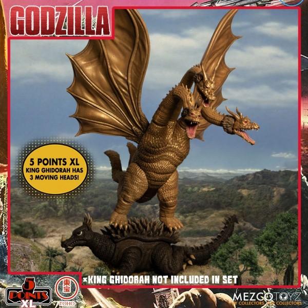 Godzilla: Frankenstein und die Monster aus dem All '5 Points' Actionfiguren Deluxe Box-Set Round 1