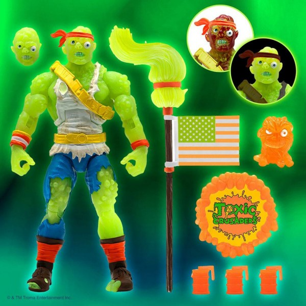 Toxic Crusaders Ultimates Actionfigur Radioactive Red Rage
