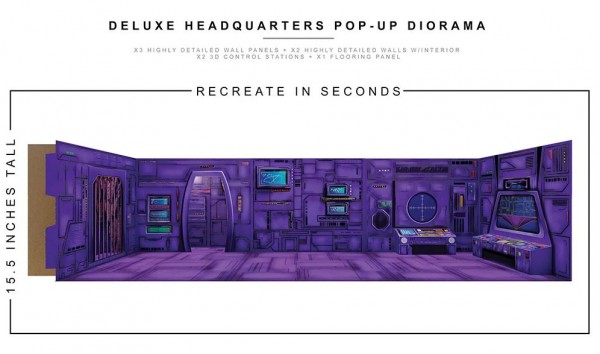 Extreme Sets Pop-Up Diorama Deluxe Headquarters Set 1/12