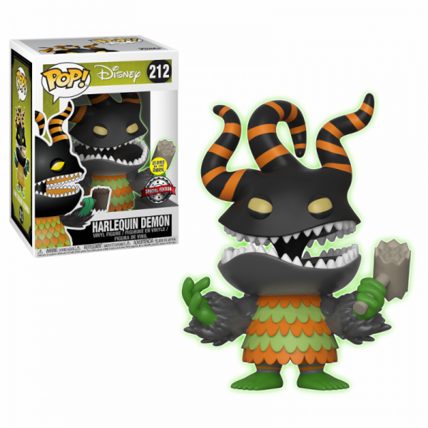 Nightmare Before Christmas Funko Pop! Vinylfigur Harlequin Demon Glow-In-The-Dark 212 Exclusive