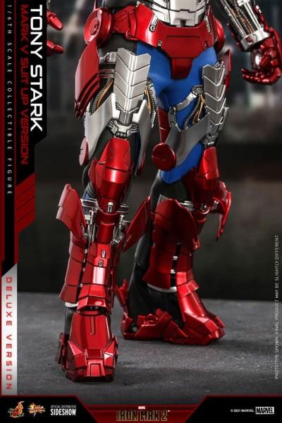 Iron Man 2 Movie Masterpiece Actionfigur 1/6 Tony Stark (Mark V Suit Up Version) Deluxe