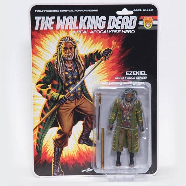 Walking Dead Actionfigur Comic Shiva Force Sensei Ezekiel (Bloody)